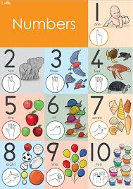 Preschool Number Chart 1 10 Number Wall Chart 1 10 In Nzsl
