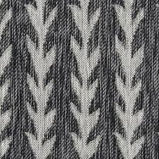 black and white outdoor rug striped 3x5