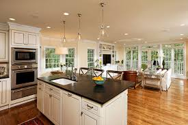 kitchen and living room designs with good open kitchen and living room design ideas modest