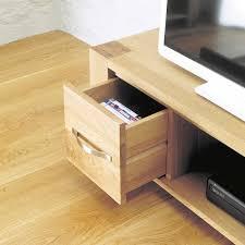aston solid oak widescreen television cabinet tv unit baumhaus space shape aston solid oak