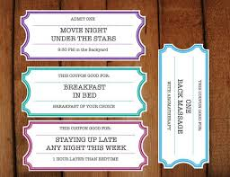 Make Voucher Fascinating Printable Coupons Tickets Vouchers DIY Printable Etsy