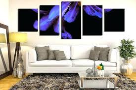 multi panel canvas prints purple artwork for living room 5 piece canvas print flower multi panel art purple flower huge pictures fl wall decor orchid