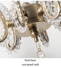 nordic home decoration crystal chandelier lighting european style antique brushed silver bohemia 3 lights 6 lights