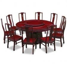 dining table set with lazy susan. 66in rosewood longevity design round dining table with 10 chairs set lazy susan