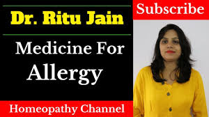 Homeopathic Medicine For Allergy (Dust,Skin,Rhinitis,Cough) - YouTube