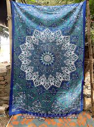 twin indian cotton psychedelic star mandala tapestry wall hanging hippie bedding throw bedspread bohemian boho ethnic
