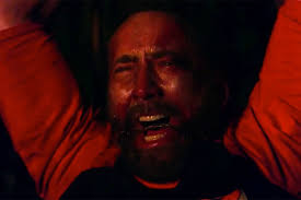 Nicolas Cage Emotion Chart Mandy Film Review Nicolas Cage Takes A Big Bite Out Of