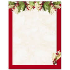Holly Christmas Letterhead Border Papers Paperdirect Ideas For
