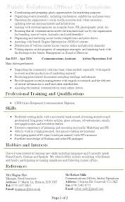 Public Relation Director Resume Free Job Resume Examples Sample Download Best Templates Mmventures Co