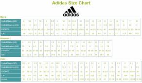Adidas Children S Shoes Size Chart Adidas Size Chart Adidas Size Chart