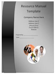 Resource Manual Template Manual Templates