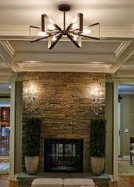 wall lighting living room. Raglan Bronze And Gold 27-Inch Six-Light Chandelier Wall Lighting Living Room I