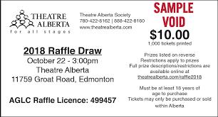 Reverse Raffle Rules Fundraiser Alberta The 2018 Theatre Alberta Raffle
