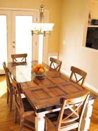 how to build a dining table from an old door and posts decorating home garden television