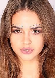 amazon com iridescent crystal face gems beauty festival face jewels indian bindi beauty