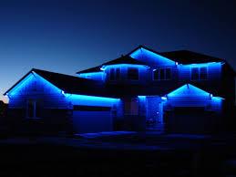 blue solar powered led strip holiday lights