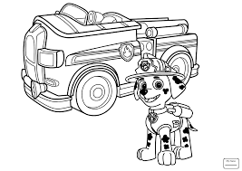 Paw patrol coloring pages marshall 7
