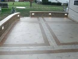cement patios ideas patio designs unique concrete design masonry paint stamped i11