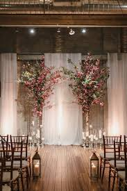 indoor wedding arches. pink color inspiration: intimate philadelphia wedding at front \u0026 palmer indoor arches i