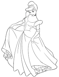 Cinderella Coloring Picture Appalling Princess Coloring Pages Games