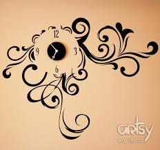 Small Picture Artist Market Place Vinyl Wall Clock Sticker Swirly Dream