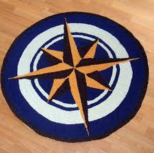 nautical round rugs kids