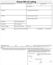 Example Of Bill Of Lading Document Ocean Bill Of Lading
