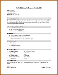 10 Curriculum Vitae Formart Cashier Resumes