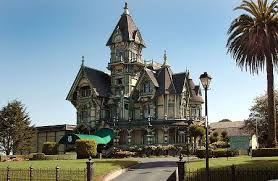 The Carson Mansion is a spectacular Victorian house in the Eureka Old Town,  California. It is widely considered a prime example of the American Queen  Anne ...