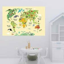 large kids educational world map l