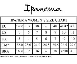 Ipanema Size Chart By Schumart Ipanema Women Art Plain Sandals Series