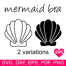 Jump to navigation jump to search. Mermaid Bra With Sea Shells Svg File For Cricut And Silhouette To Make A Sexy Mermaid Shirt With A Clamshell Bra
