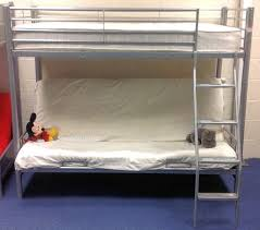 metal bunk bed with double futon