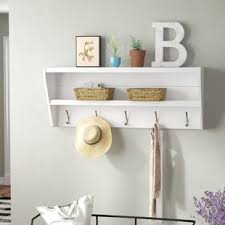 Entryway Shelf And Coat Rack Entryway Coat Hanger Shelf Wayfair 16