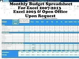 Home Budget Excel Worksheet Monthly Personal Household