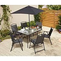 Miami Charcoal <b>8 Piece</b> Patio Set | Outdoor & <b>Garden</b> | George
