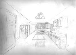 kitchen drawing perspective.  Kitchen Kitchen Throughout Kitchen Drawing Perspective