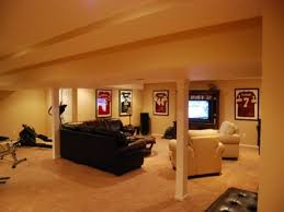 House Plan Stunning Design Of Unfinished Basement Ideas For - Finished basement ceiling