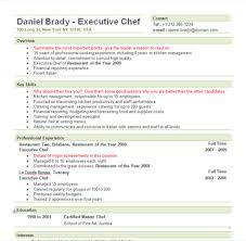 Executive Chef Resume Objective Chef Resume Example Tomyumtumweb 46