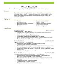 Laborer Resume 4 General Laborer Cover Letter General Labor