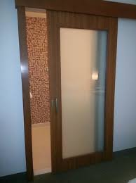 sliding frosted glass bathroom doors