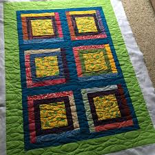 Grace and Peace Quilting: October 2016 & And last but not least, baby quilt # 8--six leaping frog squares pieced  together log cabin style!!! Adamdwight.com
