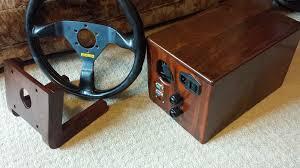 wooden direct drive wheel ffb osw brute force 2 steering wheel with ioni servo drive