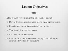 Writing An Effective Thesis Statement Ppt Video Online Download