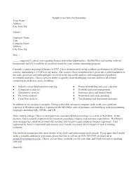 Cover Letter Example Internship Cover Letter Examples Internship ...