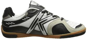 details about kelme star 360 michelin mens leather indoor soccer shoes white black