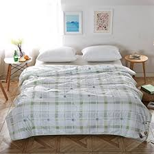 Amazon.com: NATURETY Thin Comforter for Summer, Bed quilt (Queen ... & NATURETY Thin Comforter for Summer,Bed quilt (Queen/full, Green) Adamdwight.com
