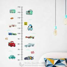 Details About Disney Cars Height Chart Kids Wall Stickers Decal Nursery Decor Gift Art Mural