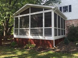decks com screen porch gable roof picture 2091 screen