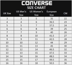 Nike Converse Size Chart Size Chart Vans Japan Bedowntowndaytona Com